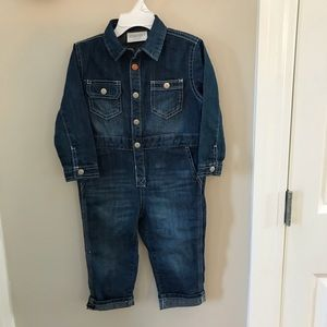 NEW GYMBOREE DENIM Romper for boy